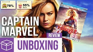 Captain Marvel Blu Ray Unboxing + Review (Digital HD Giveaway)