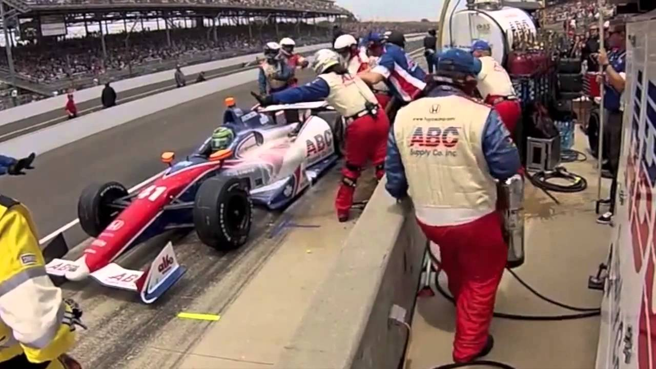 Indy 500 2013 Pit stop fire - YouTube