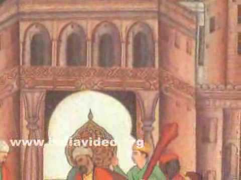 Babur distributing gifts after Lodi's death, painting by Bhura
