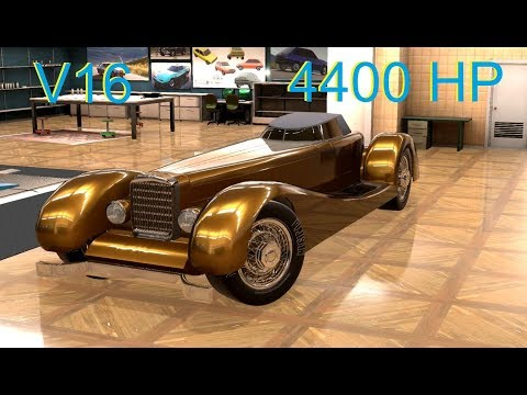 So I Attached A Car To The 4400HP V16 Engine And Tested It In BeamNG!