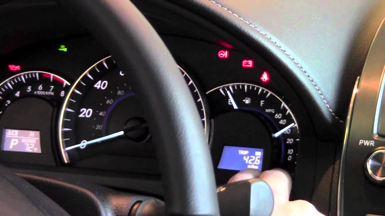 2012 Toyota Camry Odometer How To By Toyota City