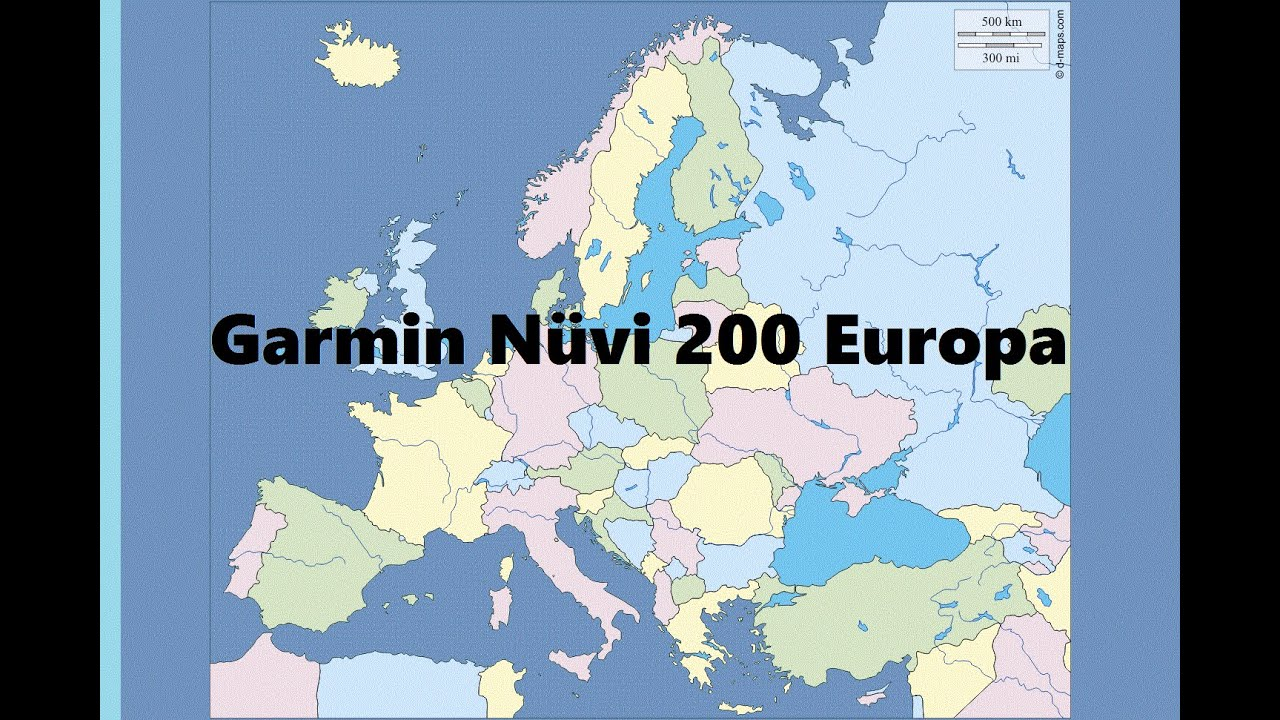 Garmin Nuvi 200 Neue Karten Europa Nt 2016 20 All Youtube