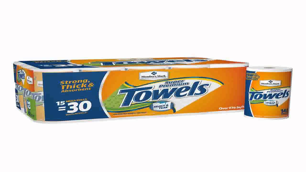 Members Mark Super Premium Paper Towels 12ct Youtube