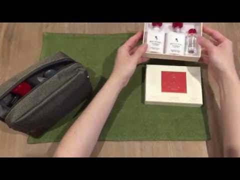 Unpacking 2016 EMIRATES Business Class Amenity Kit