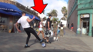 Public Football Challenge vs HOT Girls in L.A | JMX