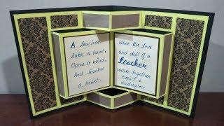 diy card for teachers day | teachers day card ideas | pop up book card for teachers day