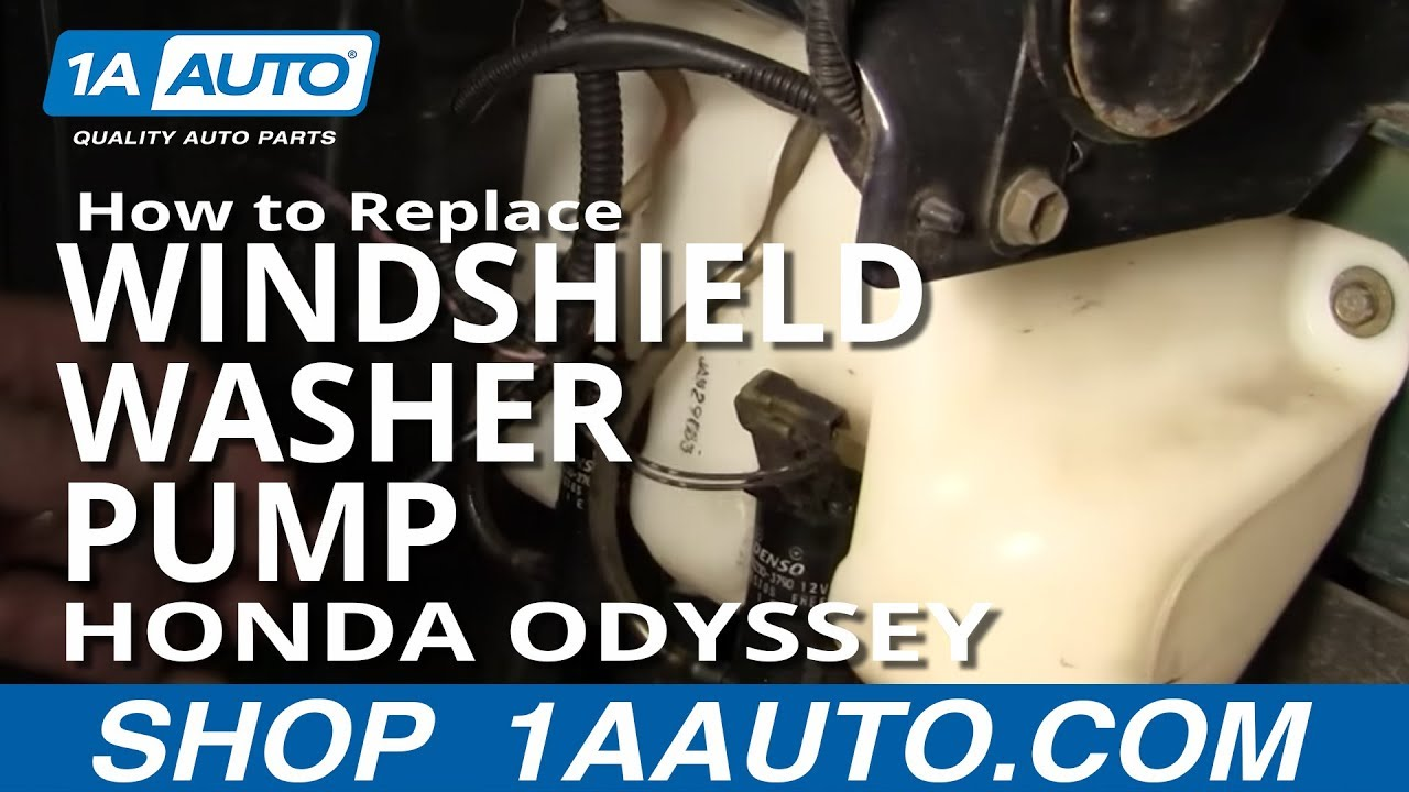 How To Install Replace Rear Window Washer Pump Honda