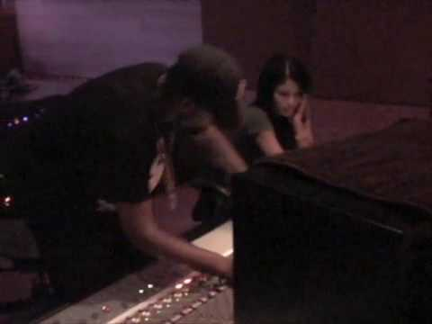 Cassie And Puff Daddy In Studio Mixing
