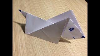 Как сделать собаку из бумаги оригами своими руками без клея видео