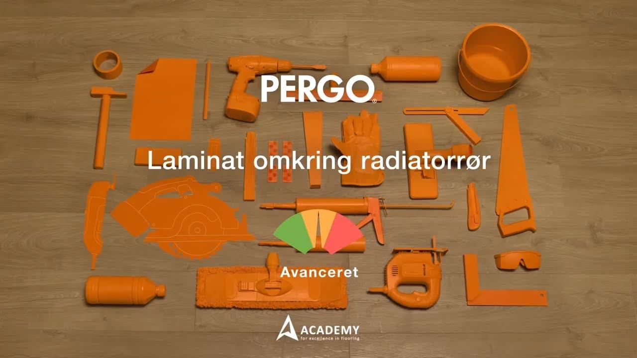 Udestående Lægge laminatgulv: montering af laminat omkring radiatorrør - YouTube WU63