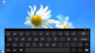 Windows 8 - Tastaturlayout ändern - Standardtastatur mit Funktionstasten