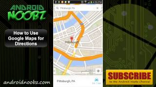 How to Use Google Maps on Android for Directions - Android Noobz Free HD Video