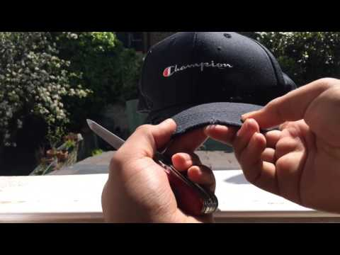 HOW TO PROPERLY DISTRESS YOUR HAT CHAMPION SNAPBACK