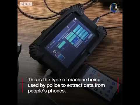 Data Extracting Machine Used by The Police in The UK