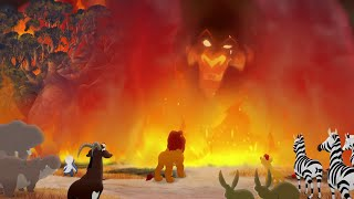Lion Guard: SCAR APPEARS TO THE PRIDE LANDERS | The Fall of Mizimu Grove HD Clip