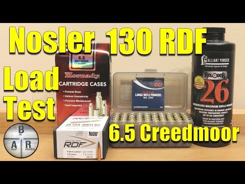 Nosler 130 grain RDF with Alliant Reloder 26 in 6 5