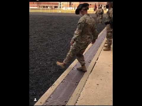 BASIC TRAINING SOLDIERS CALLING AT EASE FOR THEIR DRILL SERGEANT FUNNY ARMY