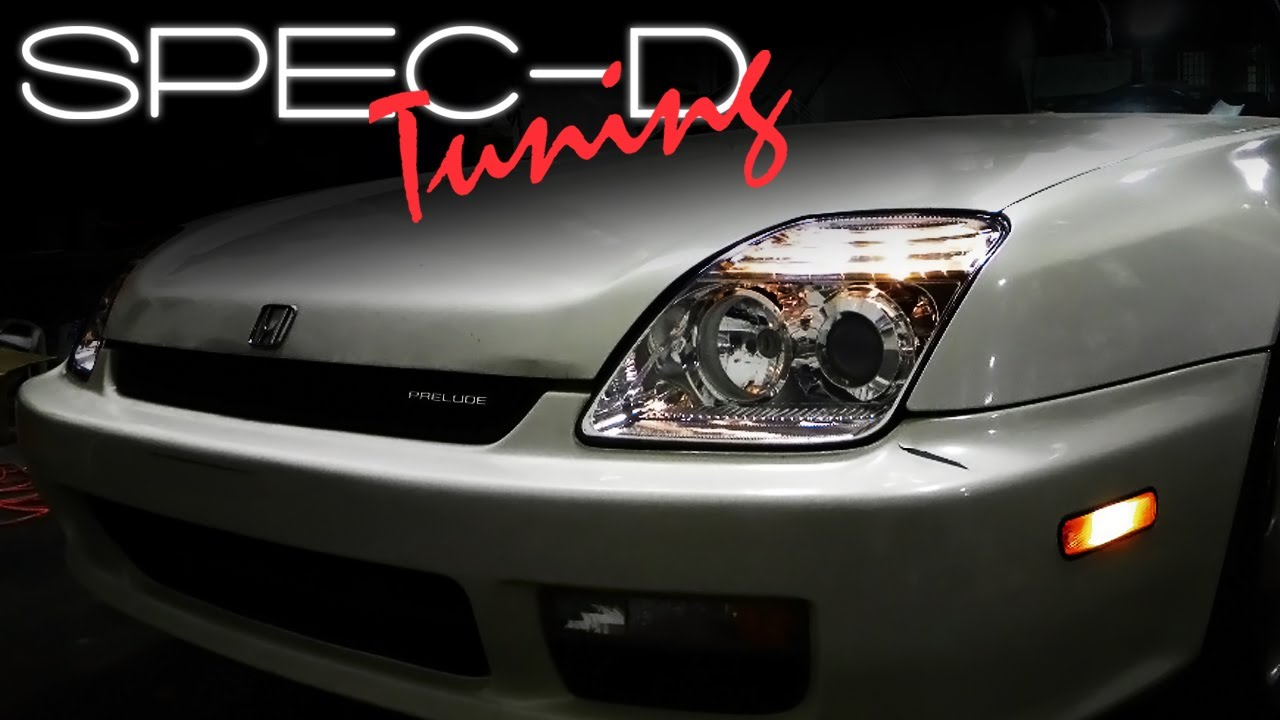 specdtuning installation video  honda prelude headlights youtube