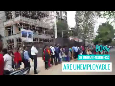 Massive Crowds at HCL walk-in interview in Bangalore