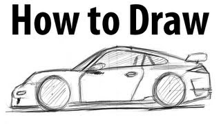 How to draw a Porsche 911 GT3 (997) - Sketch it quick!
