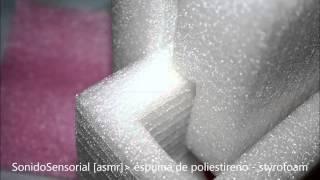 Asmr sound: espuma de poliestireno - styrofoam