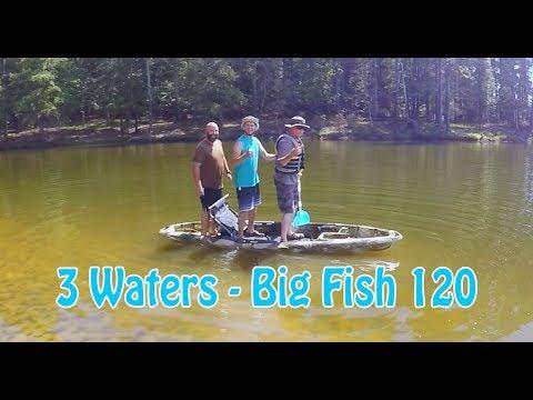 """""""3 Waters Big Fish 120"""" Fishing Kayak REVIEW!!"""