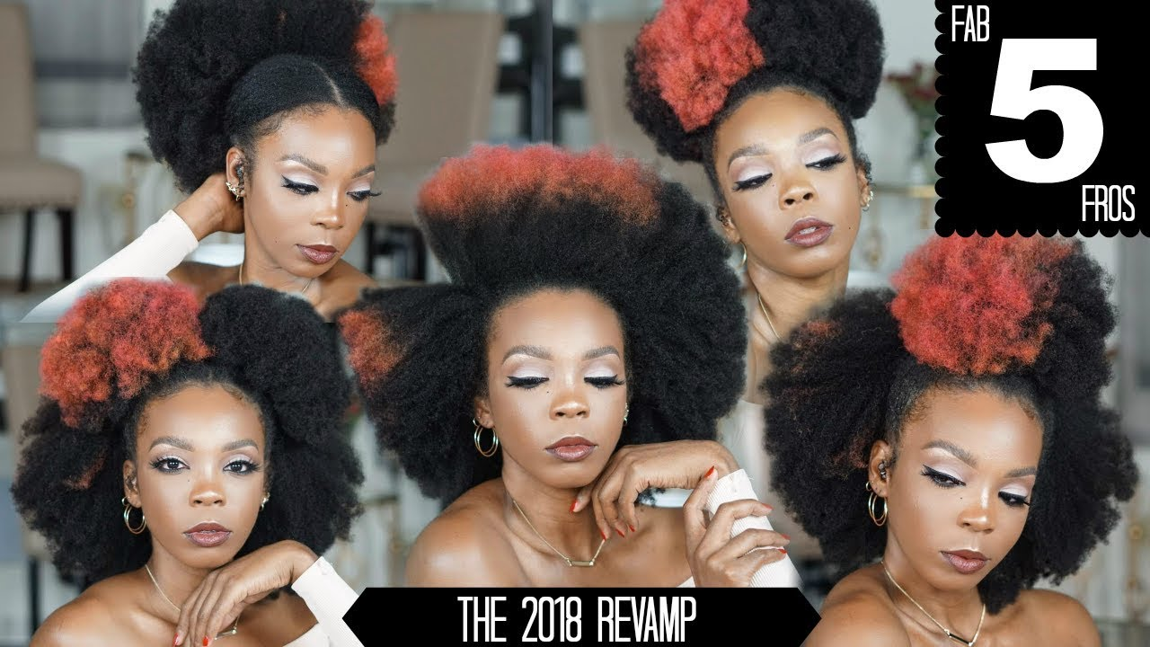 5 Easy Ways To Style Your Afro 4c Natural Hair Tutorial Youtube