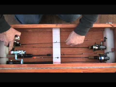 6 pole rod and reel portector case youtube for Fishing rod case diy