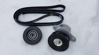 Suzuki SX4 Belt tensioner, idler pulley and drive belt replacement. 2.0L