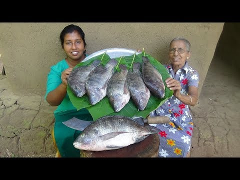 Fish Recipe ❤ Crispy Fried Tank Fish By Grandma & Daughter - Village Life