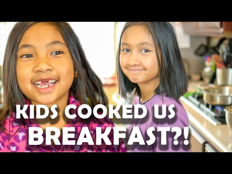 KIDS IN THE KITCHEN -  Cooking Special Breakfast for Mom and Dad