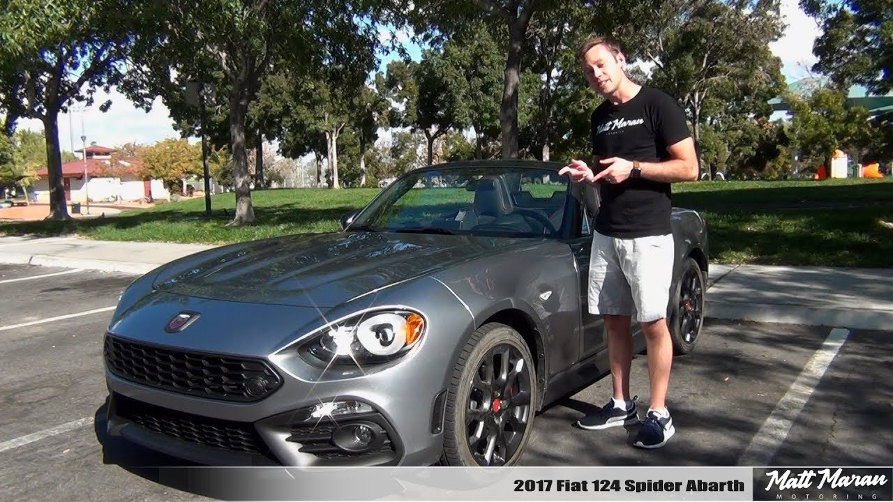 Review 2017 Fiat 124 Spider Abarth Manual