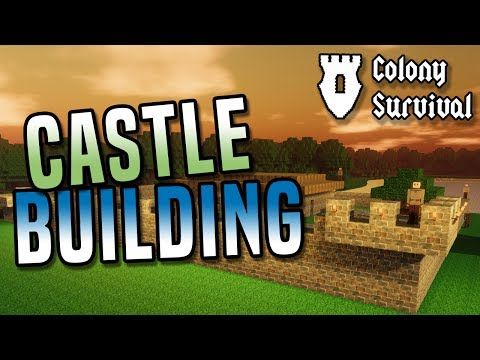 CASTLE BUILDING! Build, survive and rule a huge kingdom in Colony Survival game!