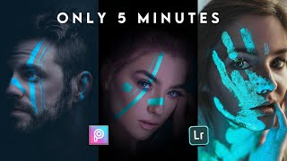 🔥NEON LIGHTS EFFECT ON PICSART   face neon lights effect on PicsArt app   only 5 minutes 👍👍