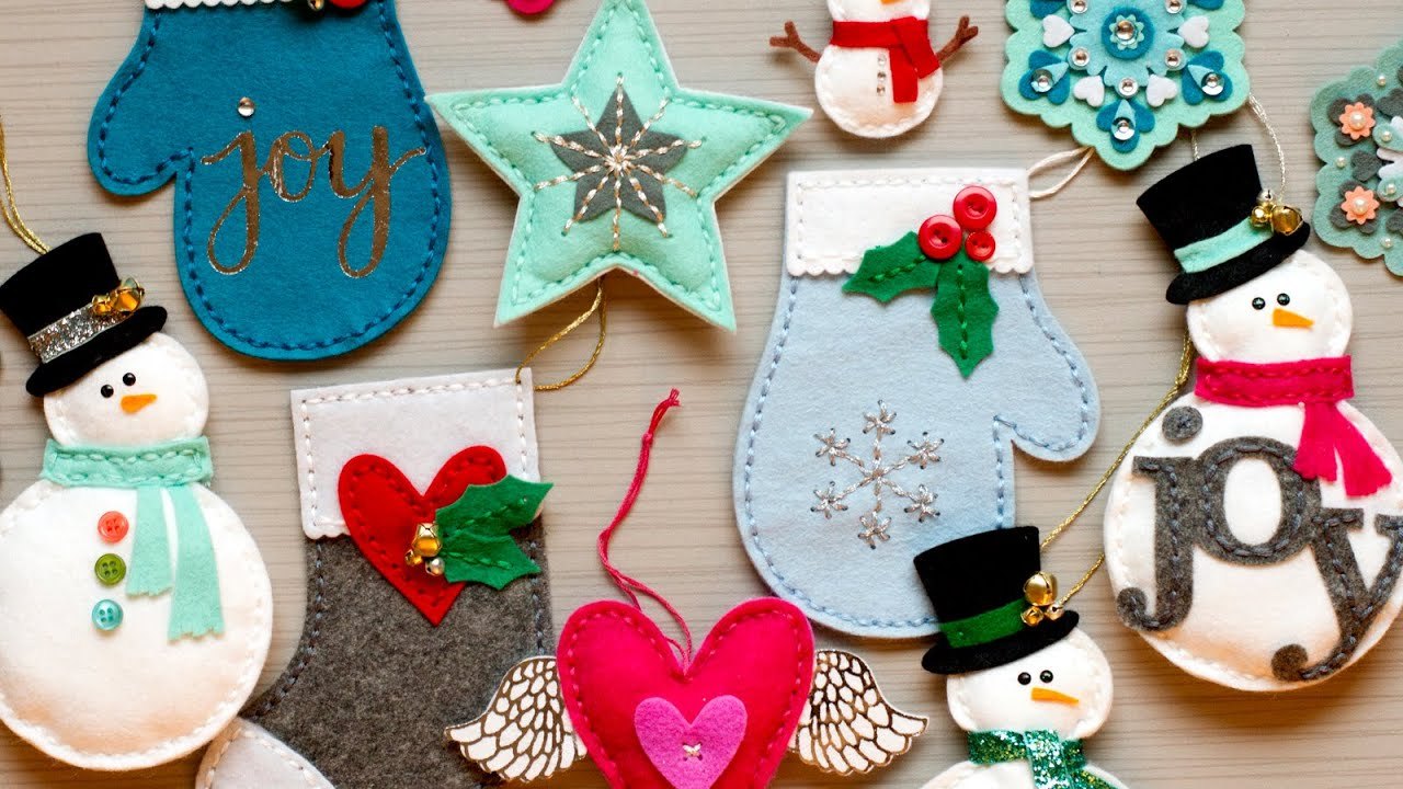 Christmas felt ornaments - Christmas Felt Ornaments 27