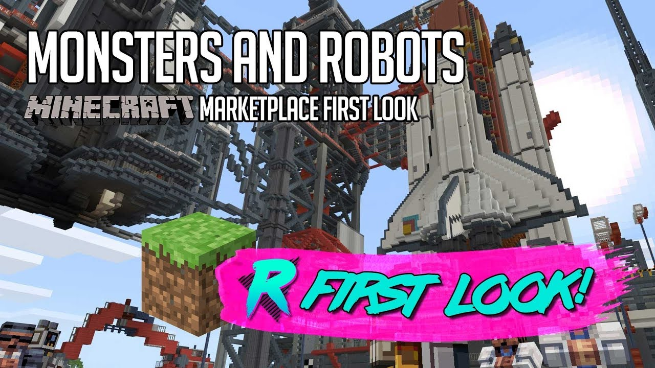 Monsters And Robots Mash Up First Look Minecraft Marketplace Youtube