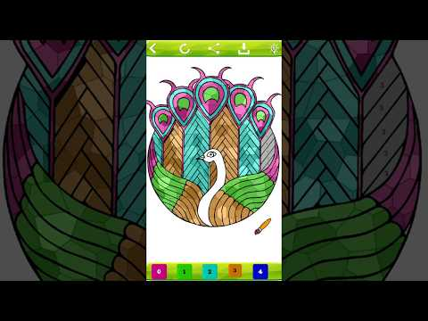 Stained Glass Color by Number: Adult Coloring Book - Apps on ...