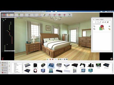 SimLab Composer / Using Auto Alignment in interior design