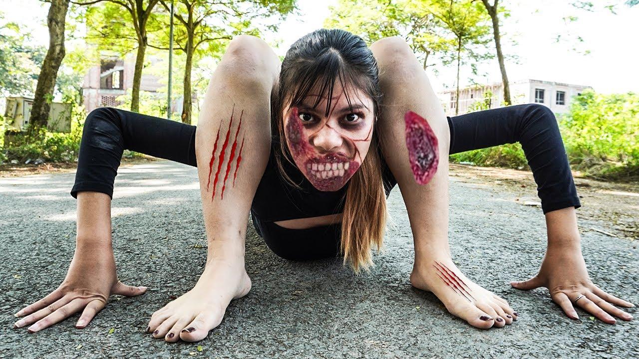 Download ZOMBIE GIRL ESCAPE PREGNANCY PRANK BATTLE - Doctor Nerf Guns Couple Zombies Crime | Sky Nerf War