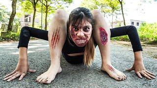 ZOMBIE GIRL ESCAPE PREGNANCY PRANK BATTLE - Doctor Nerf Guns Couple Zombies Crime | Sky Nerf War