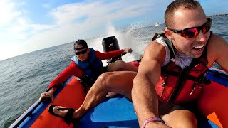 65HP on 180lb INFLATABLE Thundercat - WOW