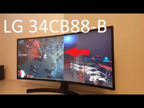 LG 34CB88-B Review und Test inkl Games und Backlight Bleeding