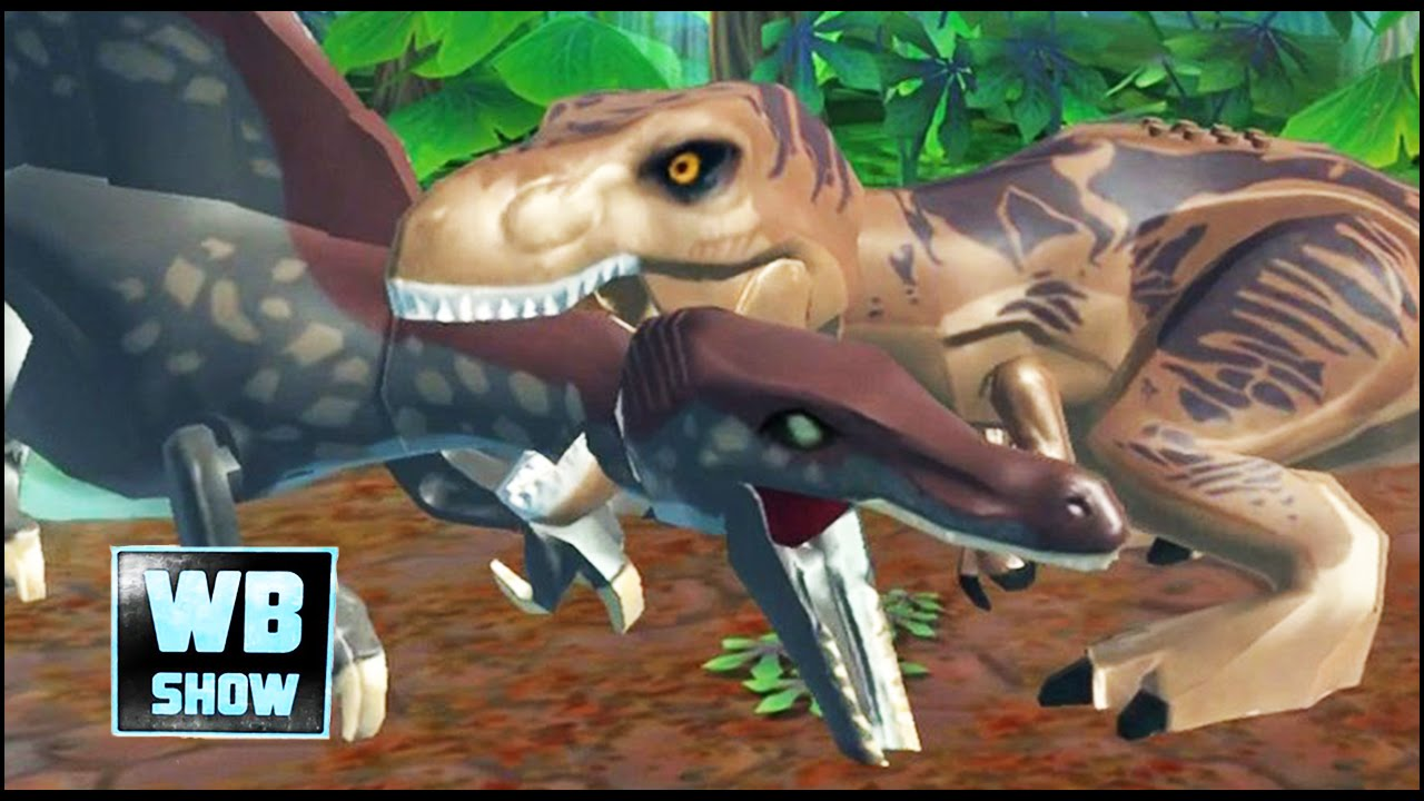 Lego jurassic world mobile spinosaurus vs t rex battle - Lego spinosaurus ...