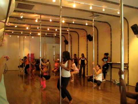 Trickin' By Mullage pt2- Beginner Pole Dance Class - YouTube