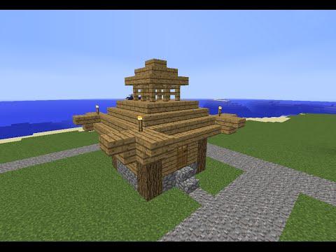 TUTO Minecraft petite maison asiatique