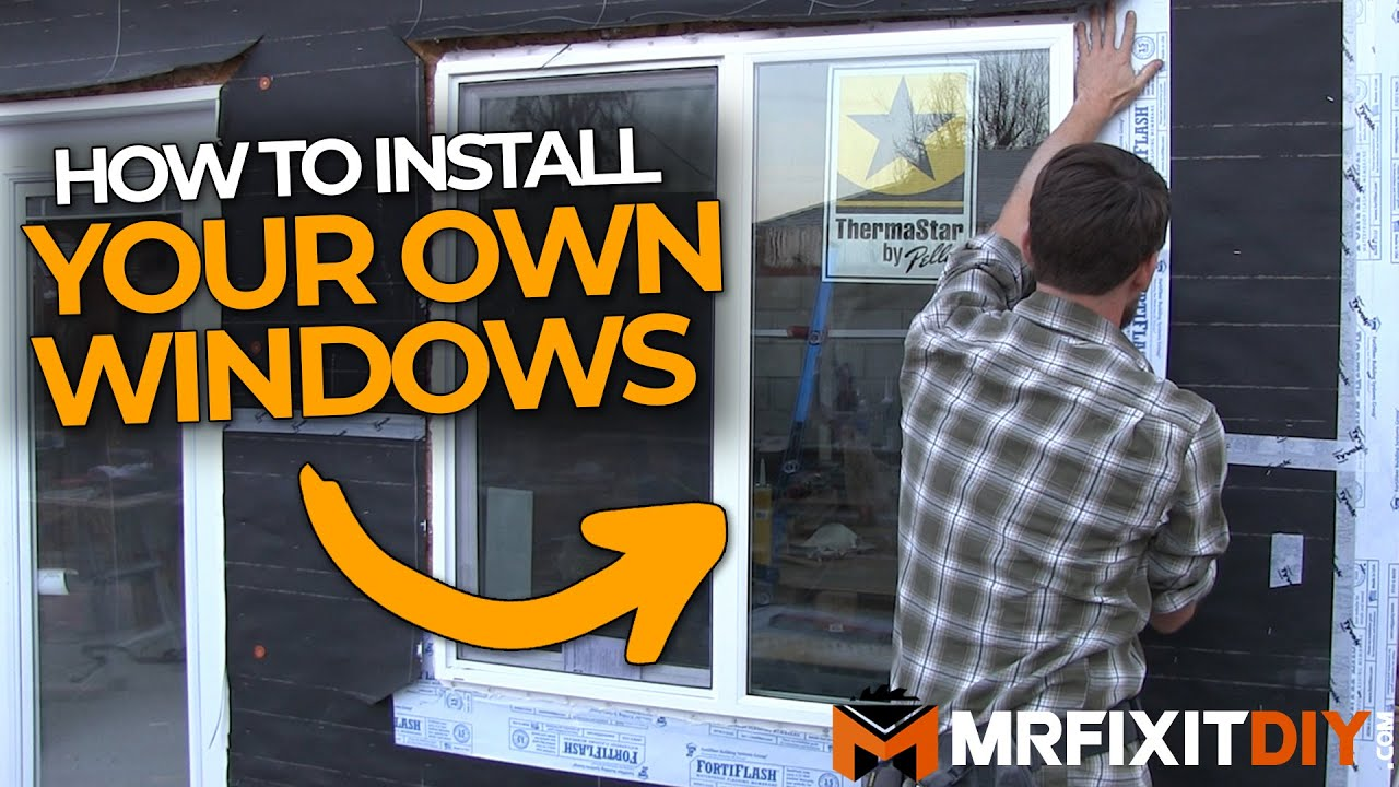 HOW TO INSTALL A WINDOW NEW CONSTRUCTION YouTube