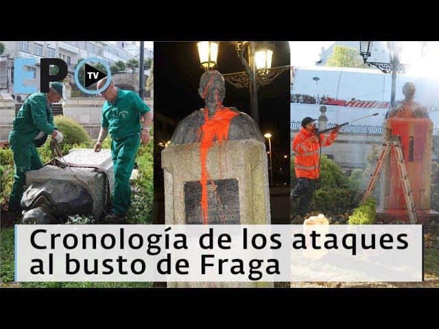 El Progreso TV ► Cronología de los ataques al busto de Fraga