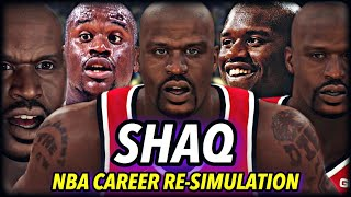 SHAQUILLE O'NEAL'S NBA CAREER RE-SIMULATION | HE'S BETTER IN THE MODERN DAY? FOUR PEAT? | NBA 2K20