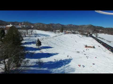 HD version of Sledding at Rabun Gap Nacoochee School