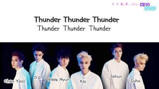 [認聲版]EXO - Thunder 雷電(Korean ver) 繁中韓字